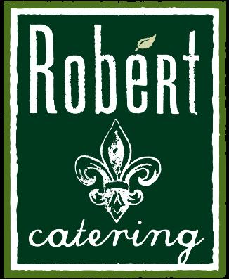 A theme logo of Robért Fresh Market Catering